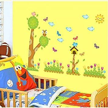 Alldolwege Wand Einen Einfachen Grunen Kafig Zaun Cartoon Dekorative