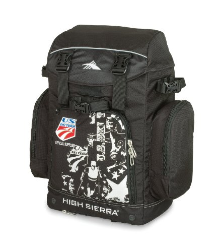 High Sierra Ski Team Boot Backpack Ski Bag, Black, Outdoor Stuffs