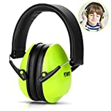 FITNATE Safety Kids Ear Muffs Ear Protection,Suitable for Kids Aged from 3-12, NRR26, SNR29 Professional Noise Reduction Adjustable Head Band Ear Defenders for Toddles and Kids (Green)