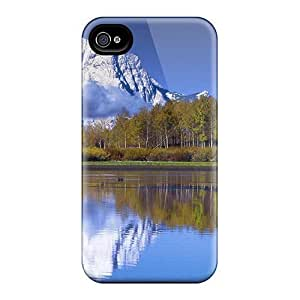Mwaerke Scratch-free Phone Case For Iphone 4/4s- Retail Packaging - Mount Moran Reflected In The Snake River