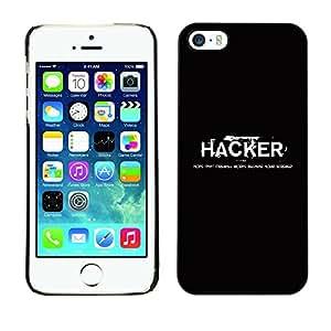 Stuss Case / Funda Carcasa protectora - Hacker Black White Text Computer Hacking - Apple Iphone 5 / 5S