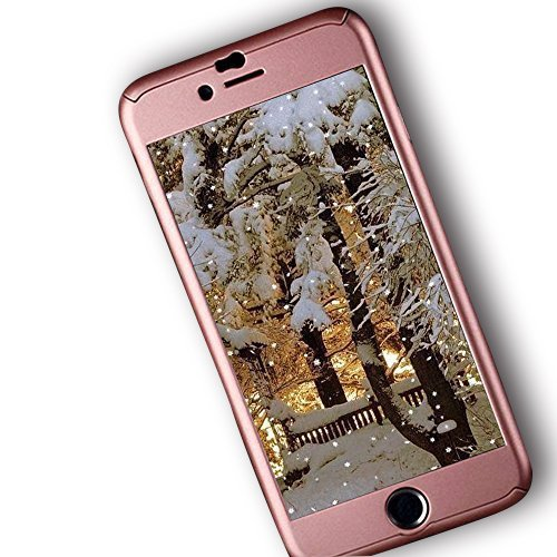 iPhone 6 Plus Case, Ipaky [Thin Fit] Exact-Fit [Rose Gold] Premium Matte Finish Dual Layer Hard Case for iPhone 6 Plus with Tempered Glass Screen Protector Skin for iPhone 6/6S Plus 5.5 [Rose Gold]
