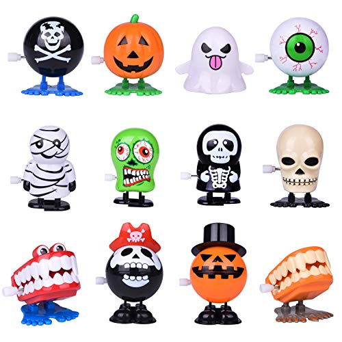 Halloween Party For Children (Wind Up Toys 12 PCs Assorted Halloween Toys for Kids, Halloween Party Favors Goodie Bag)