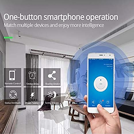 1CH WiFi RF MHCOZY Updated WiFi Wireless Smart Switch Inching Self-Locking Relay Module,Set Inching Time from 0.5 Second to 1 Hour,be Applied to Access Control,DIY WiFi Garage Door Opener