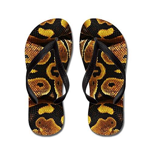 CafePress Ball Python - Flip Flops, Funny Thong Sandals, Beach Sandals (Sandals Python Thong)