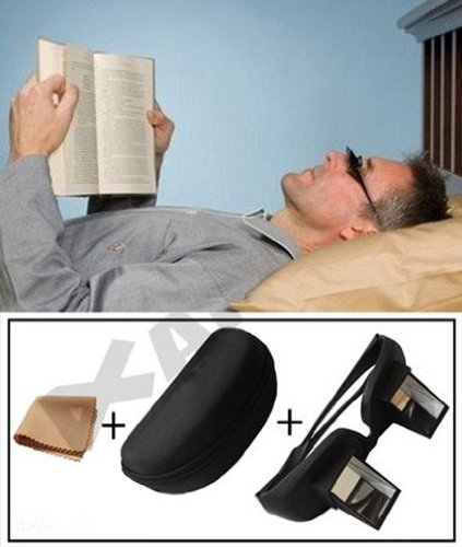 Andux Periscope Glasses Easy Lie Down on the Bed for Read...