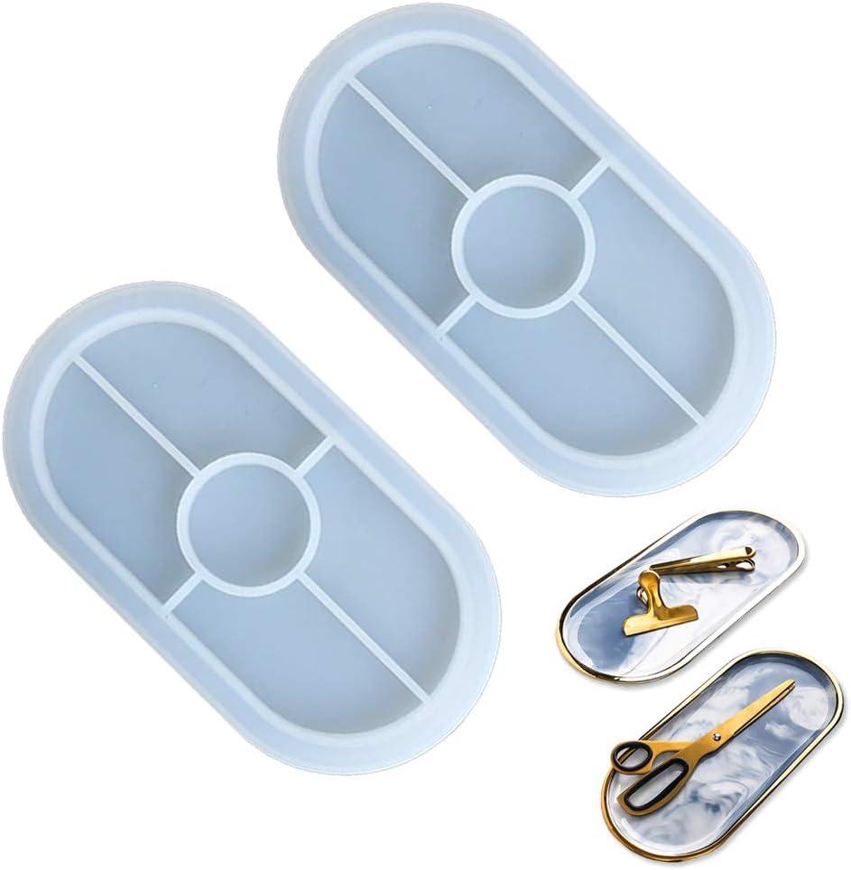 2 sizes available - resin Shiny oval coasteraccessory tray silicone mold UV resin