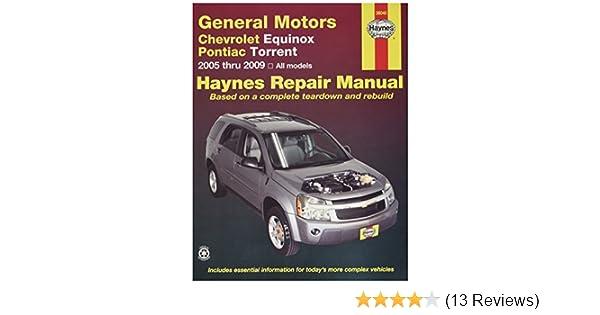amazon com haynes chevrolet equinox 2005 thru 2009 and pontiac rh amazon com 2013 chevy equinox repair manual pdf 2014 equinox repair manual