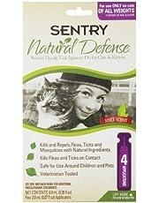 SENTRY 4Count Natural Defensa Flea and Tick Squeeze-on para Gatos