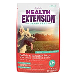 Health Extension Grain Free Dry Dog Food – Buffalo & Whitefish Recipe