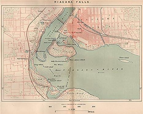 Niagara Falls. North America. Canada - 1885 - Old map ...