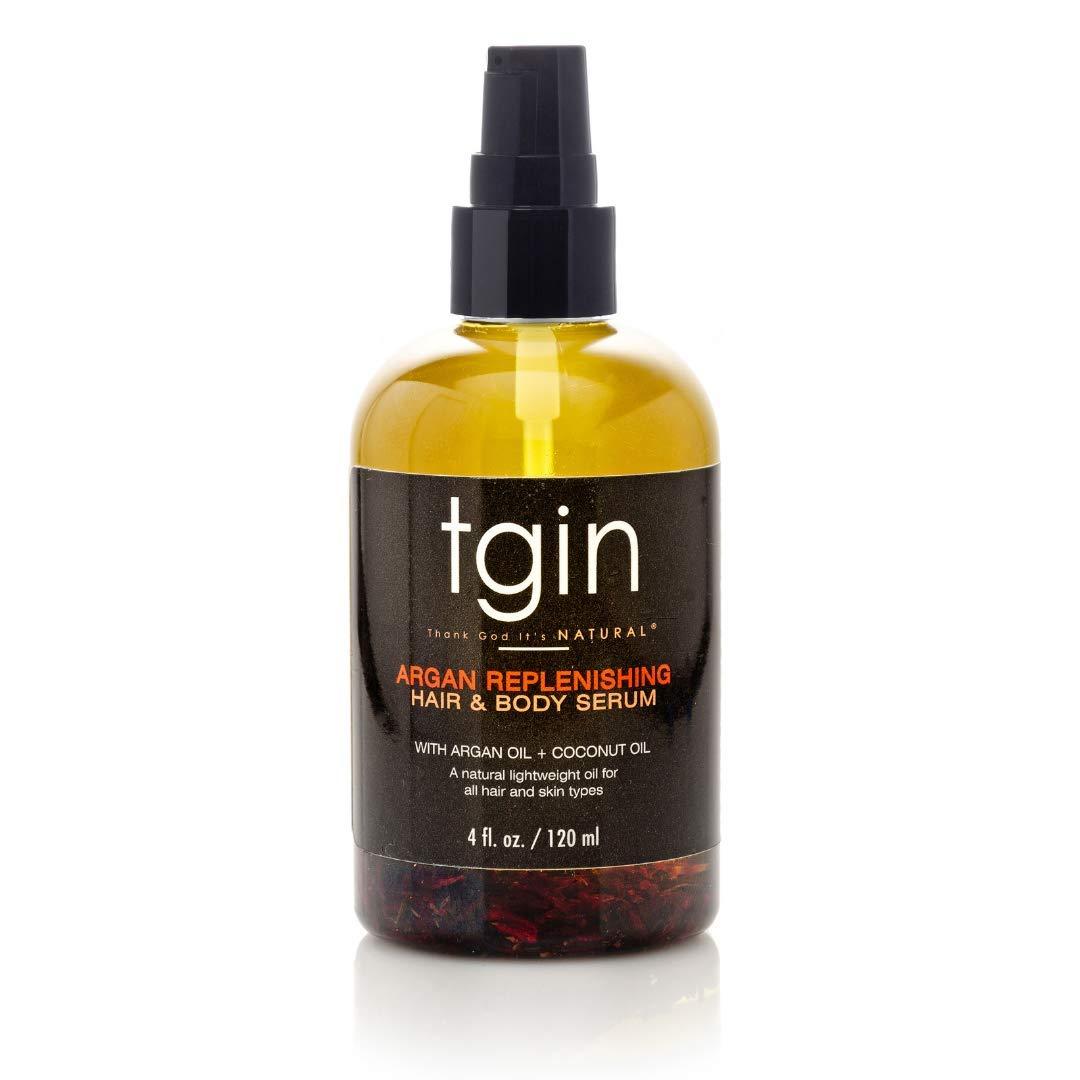 tgin Argan Replenishing and Hair Body Serum For Natural Hair - Dry Hair - Curly Hair - 4 Oz