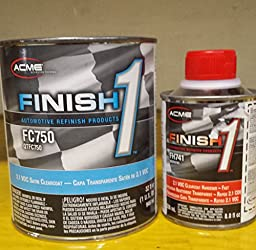 Acme/sherwin williams finish1 FC750/FH741 2.1 VOC satin finish clearcoat auto body shop restoration car paint supplies
