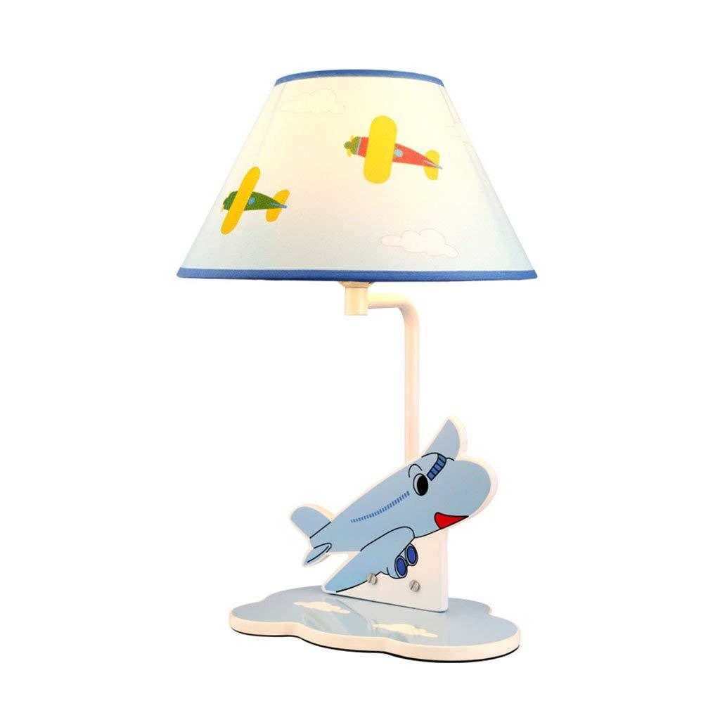 BESTHOO BJ Schreibtischlampen- Kinder Tischlampen Cartoon Flugzeug Junge Schlafzimmer Studie Lampe (Farbe   -, Größe   -)
