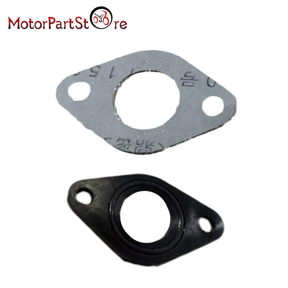 19mm//20mm Carburetor Manifold Intake Pipe Gasket Spacer Seal Set for 50cc 110cc 125cc Pit Dirt Bike ATV D50 VistorHies
