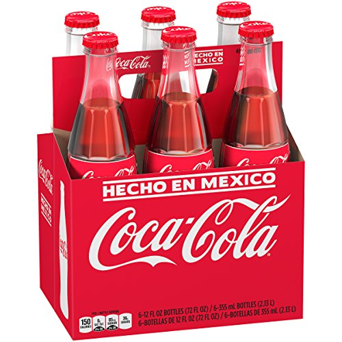 Mexican Coca-Cola Glass Bottles, 12 fl oz, 6 Pack (Mini Coca Cola Glass)