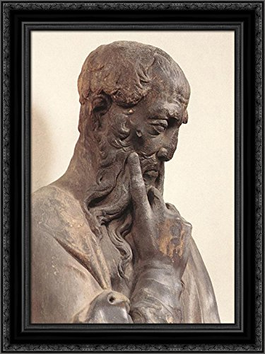 Prophet with Scroll 20x24 Black Ornate Wood Framed Canvas Ar