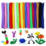 M-Aimee 700 Pieces Assorted Colors Chenille Stems Pipe Cleaners 6 mm x 12 Inch for DIY Art Supplies