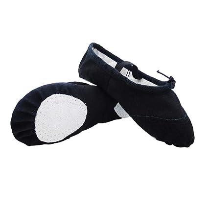 Dkhsy Balet Dance - Zapatos de Tela Split Sole Planos para ...
