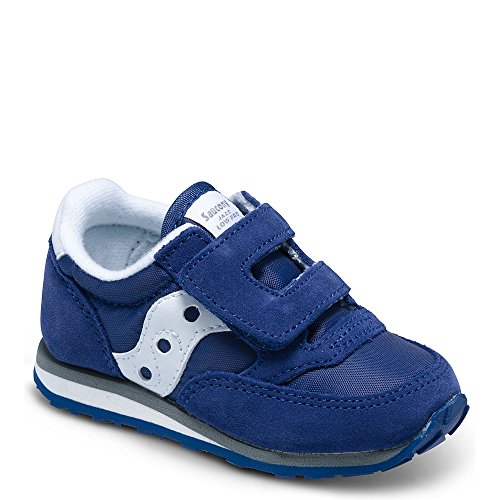 Saucony Kid's Baby Jazz H&L-K Sneaker, Cobalt Blue, 7 Wide US Toddler