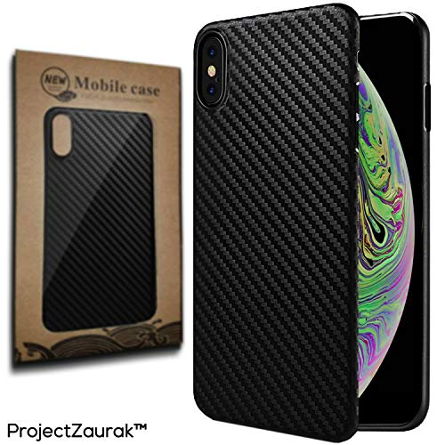 (Carbon Fiber Case For iPhone X and XS by Project Zaurak - Ultra Thin Slim Case Cover For Apple 5.8