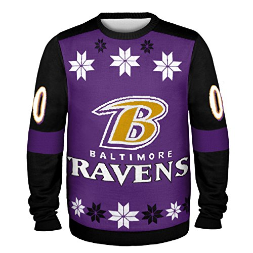 154af0c8e1c Amazon.com   Baltimore Ravens Almost Right But Ugly Sweater Extra Large    Sports   Outdoors