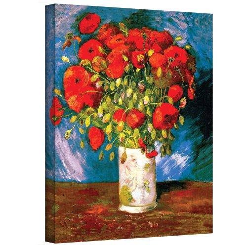 Art Walls Poppies Gallery - floral wall art decor - flower wall art prints
