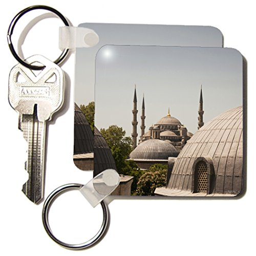 - 3dRose Sultanahmet Mosque, Also Known as the Blue Mosque and Sultan Ahmed Mosque, Istanbul, Turkey Key Chains, Set of 2 (kc_45997_1)