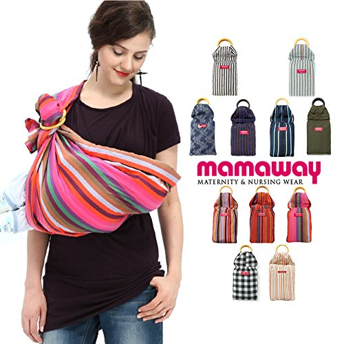 Mamaway Ring Sling Baby Wrap Carrier for Infants and Newborn