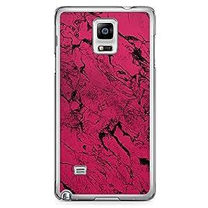 Samsung Note 4 Transparent Edge Phone Case Dark Pink marble Phone Case Dark marble 2D Note 4 Cover with Transparent Frame