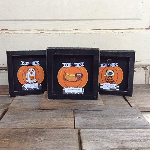 AGD Halloween Decor - Funny Dog Sayings Box Signs 3pc.]()