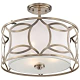 """Roxbury 16"""" Wide Antique Brass Ceiling Light by Universal Lighting and Decor"""