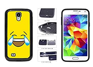Bright Yellow Laughing Crying Smiley Face 2-Piece Dual Layer Phone Case Back Cover Samsung Galaxy S4 I9500