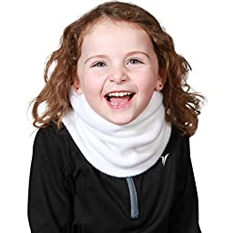 Turtle Fur Original Turtle Fur Fleece Kids Turtle's Neck, Double-Layer Fleece Neck Warmer, White