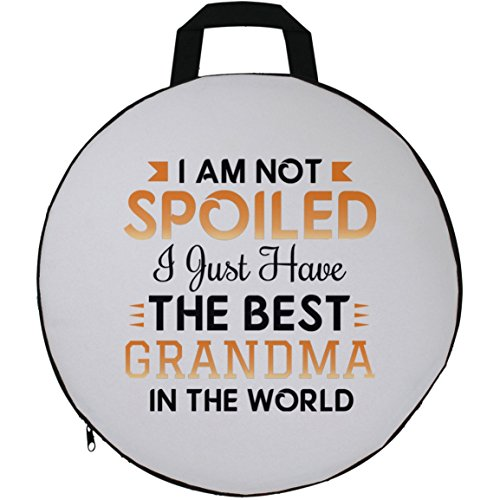 Grandkids Seat Cushion, I Am Not Spoiled I Just Have The Best Grandma In The World - Seat Cushion, Round Seat Pillow, Unique Gift Idea for Birthday, Grandchild, Grandson, Granddaughter (Papa Son Chair)