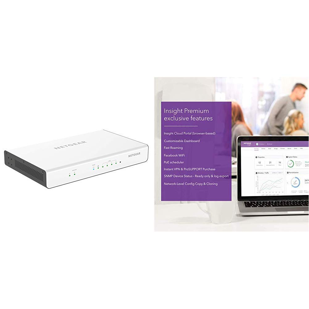 NETGEAR Insight Instant VPN Business Router (BR500) - with 1 Year of  Insight Premium Service