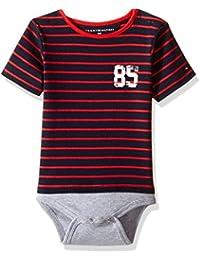 Baby Boys' Short Sleeve Striped Tommy Bodysuit