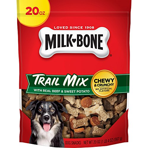 Milk-Bone Trail Mix With Real Beef & Sweet Potato Dog Treats, 20-Ounce ()