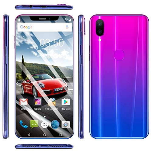 Weite 8 Cores 6.2'' Full Screen 3G Unlocked Smartphone with Finger Print Sensor, Supports Face Recognition/Android 8.1 IPS/16GB/Dual HD Camera/Dual SIM Card/3800Mah Lithium-ion Battery (Purple) by Weite (Image #6)