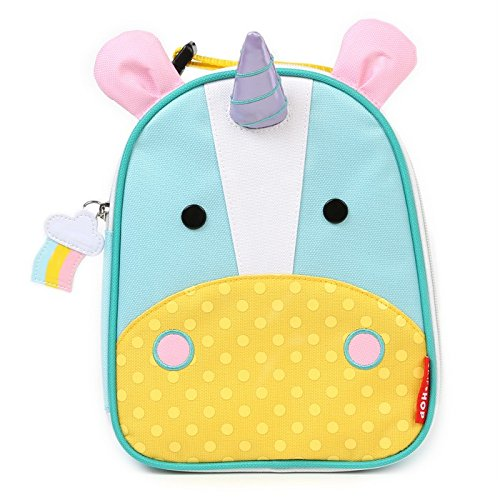 Skip Hop Baby Zoo Little Kid and Toddler Insulated and Water-Resistant Lunch Bag, Multi Eureka Unicorn (Kids Insulated Lunch)