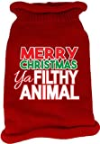 Mirage Pet Products 621-16 XSRD Ya Filthy Animal Screen Print Knit RedS Pet Sweater, X-Small
