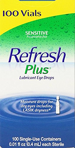 Allergan Refresh Plus Lubricant Eye Drops Single-Use Vials - opy4yt 2Pack (100 ct )