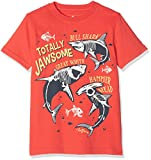 Fat Face Boy's Shark Glow in Dark Graphic T-Shirt, Orange (Papaya Org), Years (Size: 4-5)
