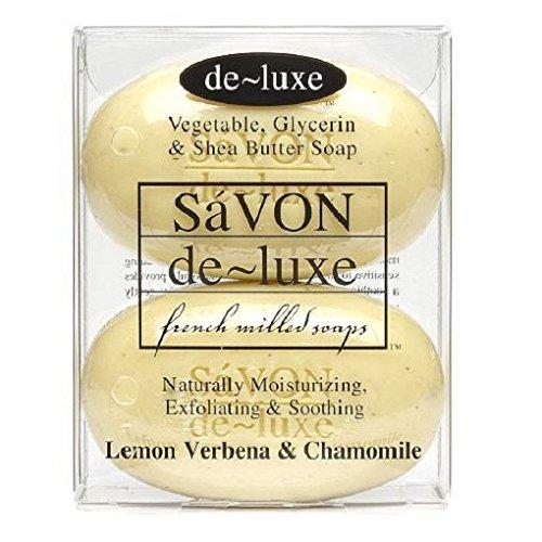 de-luxe SaVON Bar Soap, Verbena & Chamomile, 4.2 (Deluxe Soap)