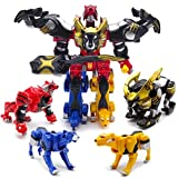 Children Toys Power Ranger Dinozord 4 in 1 Transformation Boy Power Ranger Megazord