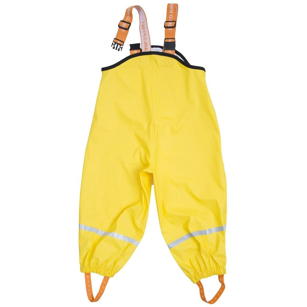 Polarn O. Pyret Waterproof Suspender RAIN Pants (2-6YRS) - Maize/4-6 Years by Polarn O. Pyret