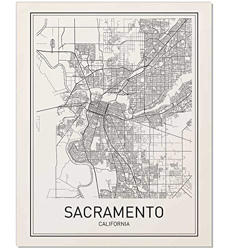 - Sacramento Poster, Map of Sacramento, Sacramento Map, City Map Posters, Modern Map Art, City Prints, California Art, Minimal Print, City Poster, City Map Wall Art, Minimalist Posters, 8x10