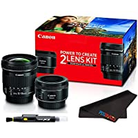 Canon Travel and Portrait Two Lens Kit with EF-S 10-18mm f/4.5-5.6 IS STM & EF 50mm f/1.8 STM Lenses + Basic Accessories