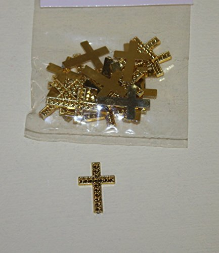 Faith Cross Favor Accents Charms, Pack of 24 Gold Crosses