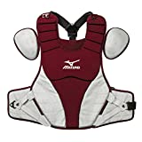 Mizuno 380321.1291.01.0000 Samurai Chest Protector (15'') One-Size Cardinal-Grey, Red Grey